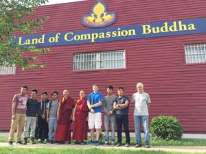 Land of Compassion Buddha Edmonton Tibetan Buddhist centre with friends